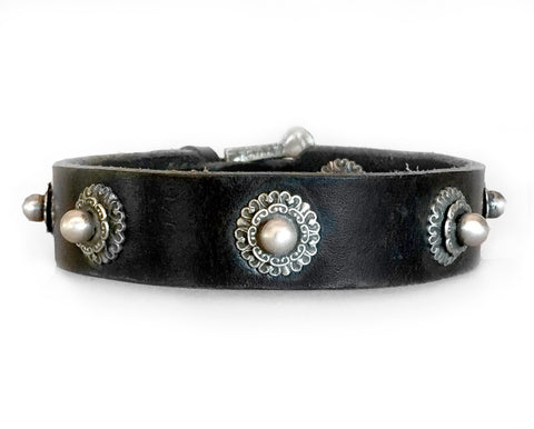 Collier Leeds Cha Cha leather dog collar