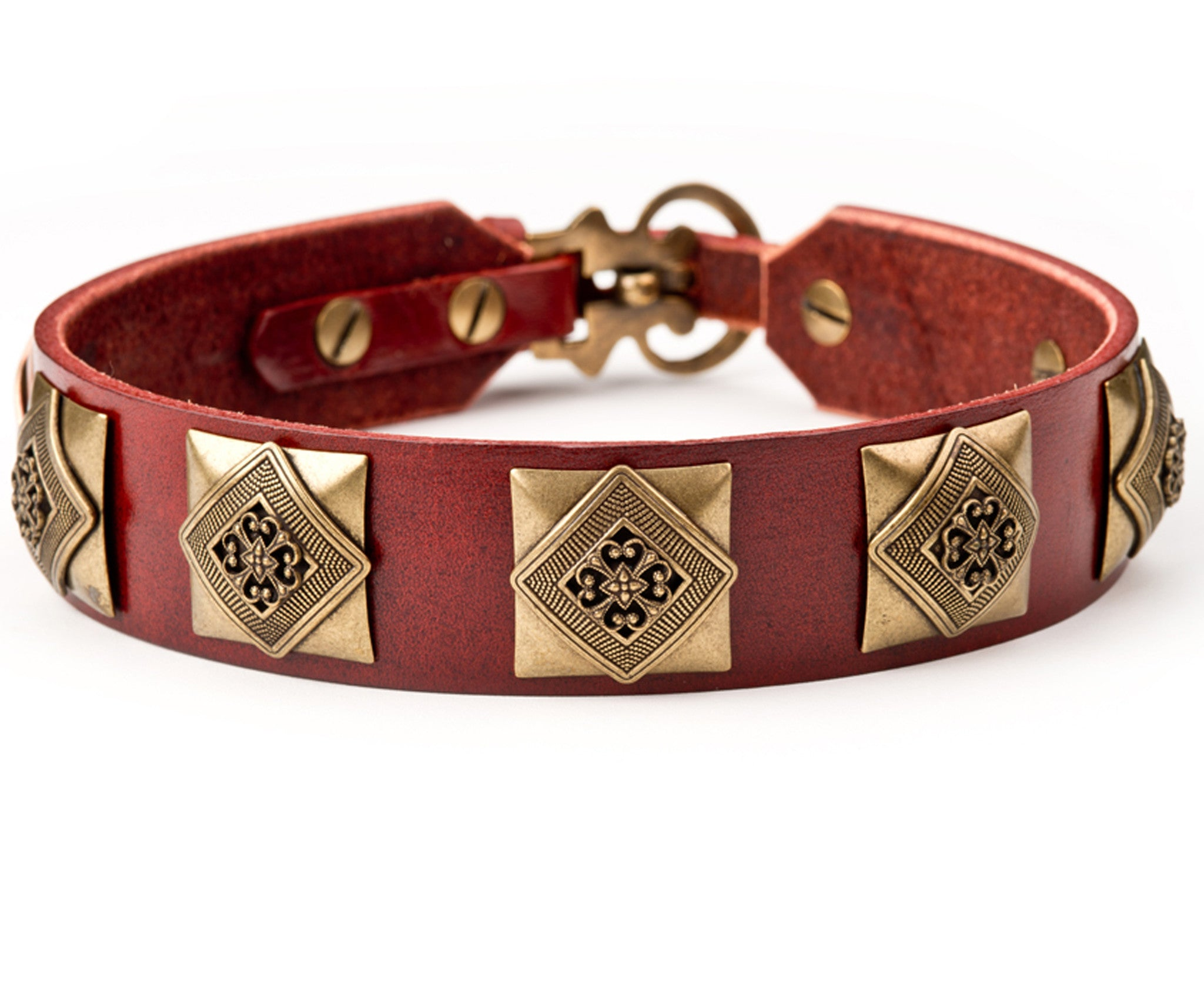 Collier Leeds Charlie leather dog collar