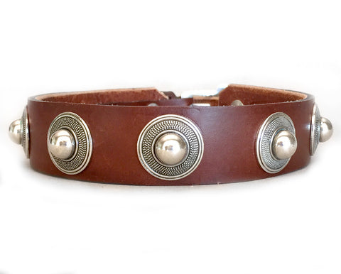 Collier Leeds Fuller leather dog collar