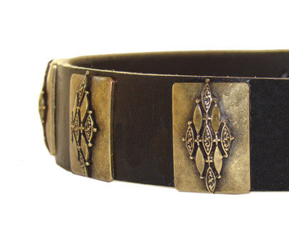gandalf leather dog collar