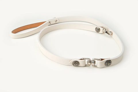 gretta leather dog lead