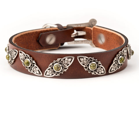 jessie leather dog collar