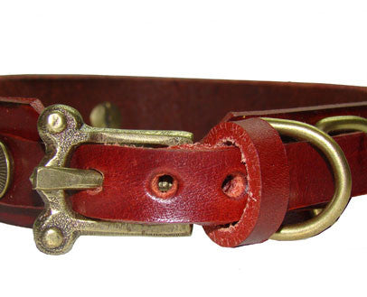 Collier Leeds Lady leather dog collar
