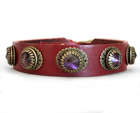 lady leather dog collar