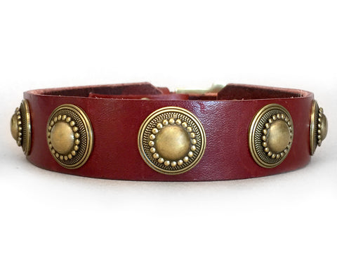 lizzie leather dog collar