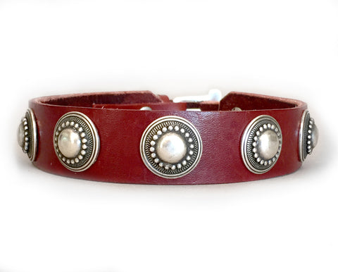 Collier Leeds Lizzie leather dog collar