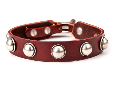 louis leather dog collar