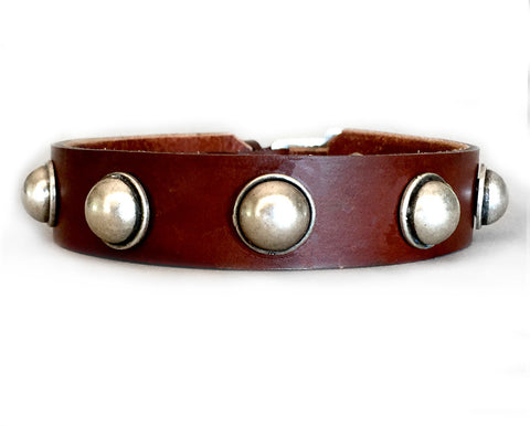 Collier Leeds Louis leather dog collar