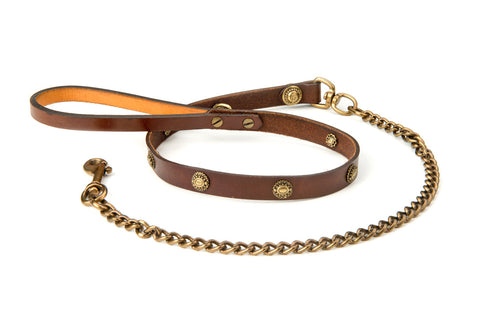 lulu leather dog lead