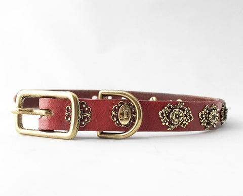 Collier Leeds Molly small leather dog collar