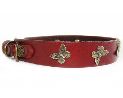 Collier Leeds Pokey leather dog collar
