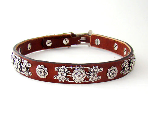 sassy leather dog collar