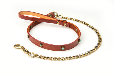 shelby leather dog lead