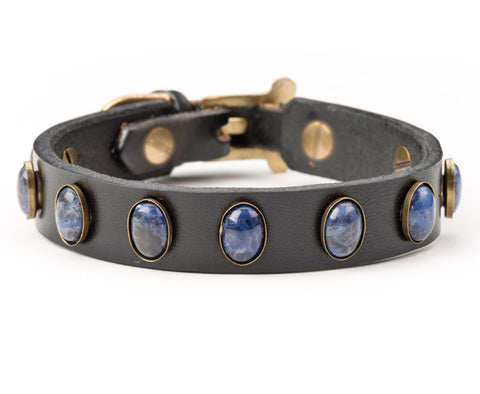 toni leather dog collar
