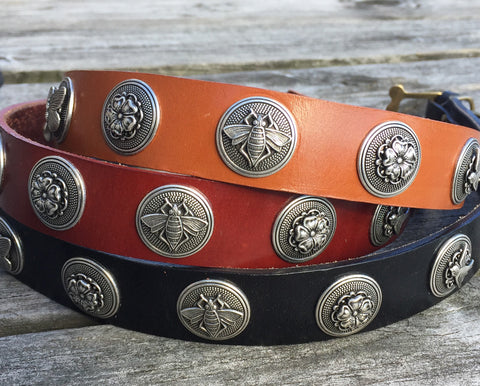 Collier Leeds Twiggy leather dog collar
