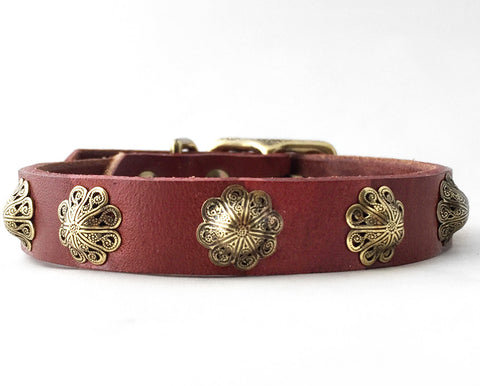 Collier Leeds Zoe small leather dog collar