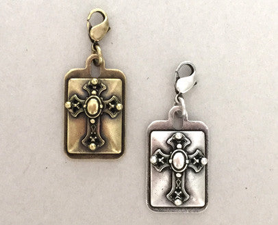 cross dog collar charm