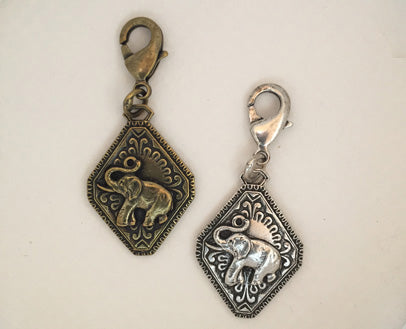 elephant dog collar charm
