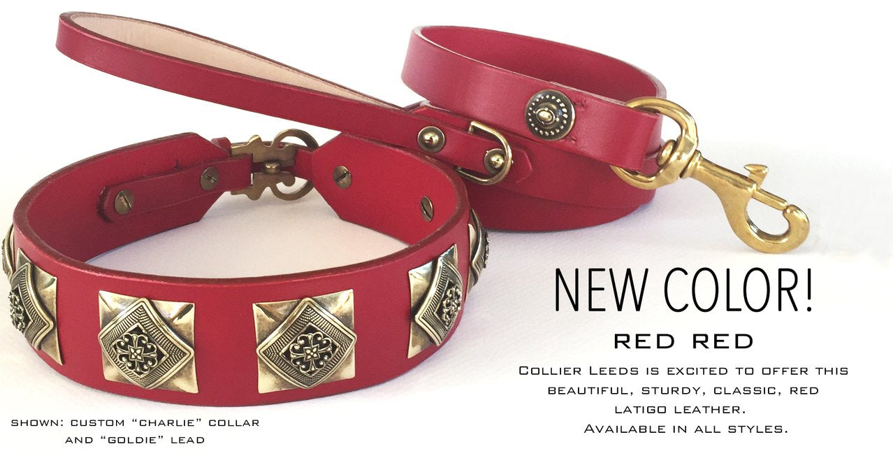 small leather dog collars