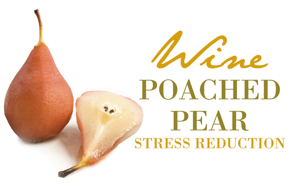 WINE POACHED PEAR PEDICURE