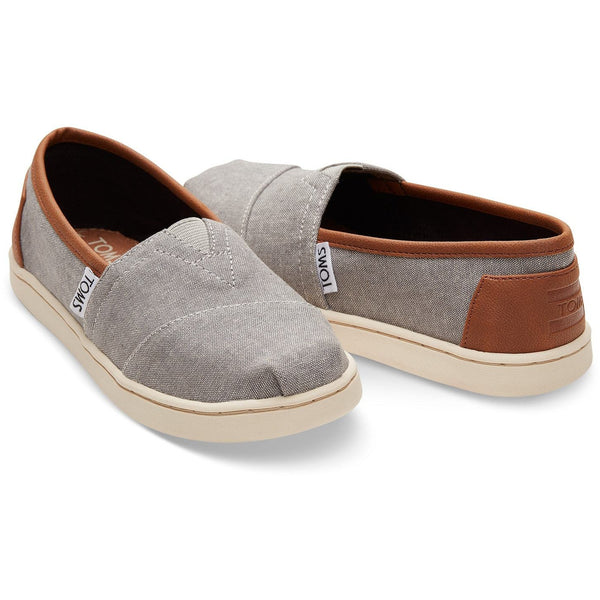 Frost Grey Chambray Tiny TOMS Classic