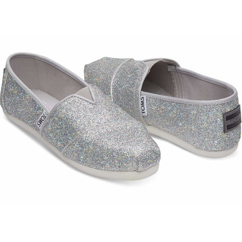 Toms® Classic - Silver Iridescent Glimmer (Youth)