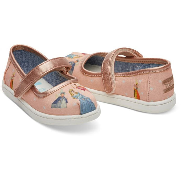 329e25135bc Disney X TOMS Sleeping Beauty Tiny TOMS Mary Jane Flats