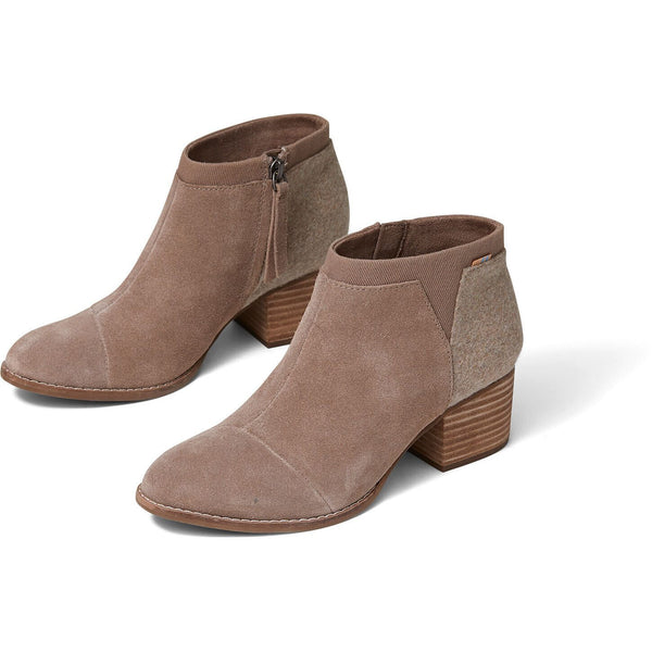 Taupe Grey Suede Women's Loren Booties TOMS