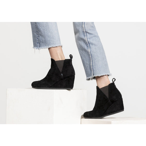 Black Suede Women's Kelsey Booties TOMS