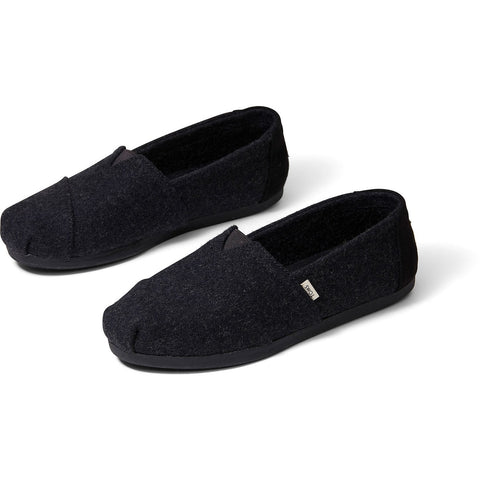 Black Felt Faux Shearling Women's Classics ft. Ortholite TOMS
