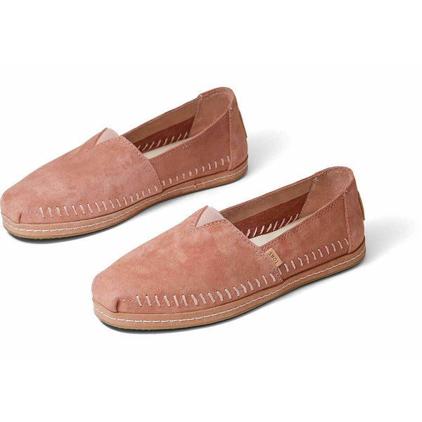 Women's Toms® Classic - Sand Pink Nubuck Suede Leather Wrap Slip-On