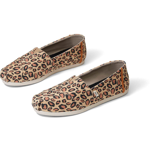 Desert Tan Leopard Printed Microfiber Women's Classics ft. Ortholite