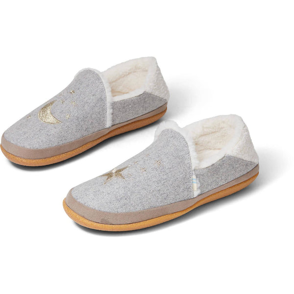 Women's Toms® India - Drizzle Grey Felt/Embroidery Slip-Ons