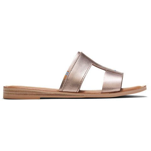 Woman's Toms® Seacliff - Rose Gold Metallic Leather Sandals