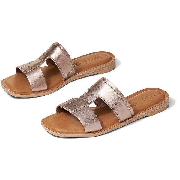 Rose GOld Metallic Leather Women's Seacliff Sandals