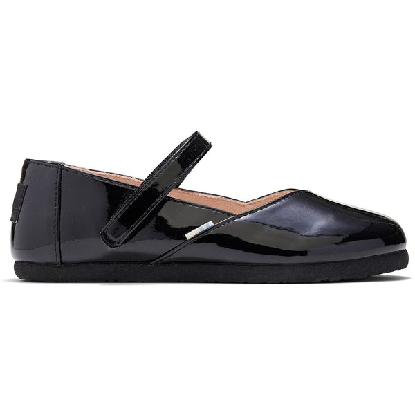 Black Patent Youth Keesha Flats