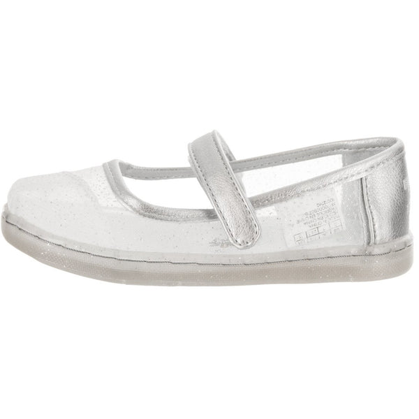 Toms® Tiny Toddlers Mary Jane Silver Cinderella Slip-On Shoe