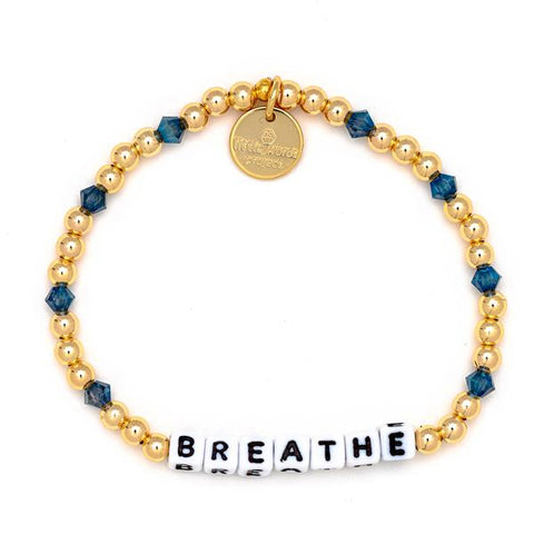 Little Words Project Gold Filled Collection - Breathe - White