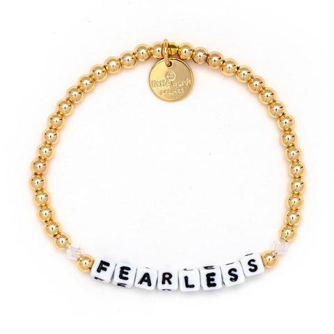 Little Words Project Gold Filled Crystal Collection - Fearless - White