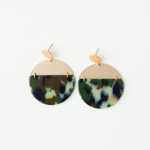 Michelle McDowell Delany Earrings - Camo