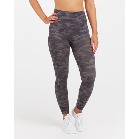 SPANX Look At Me Now Seamless Leggings - Heather Camo