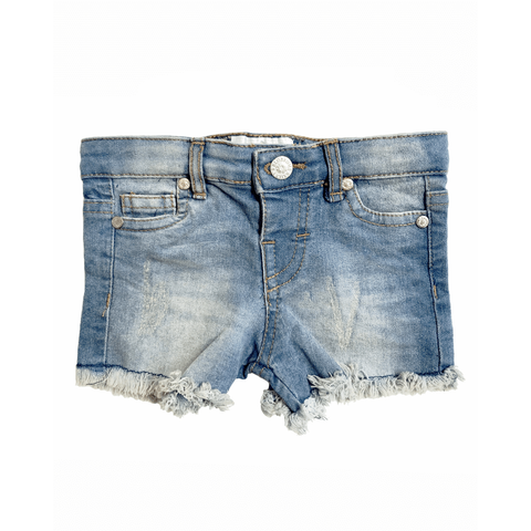 Distressed Denim Shorts - Littles