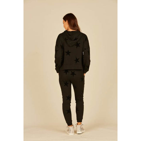 Black Star Flocking Hoodie