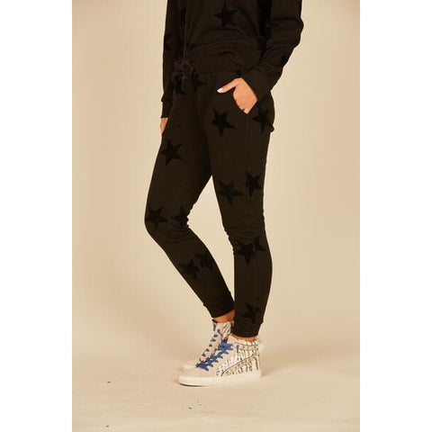 Black Star Flocking Joggers