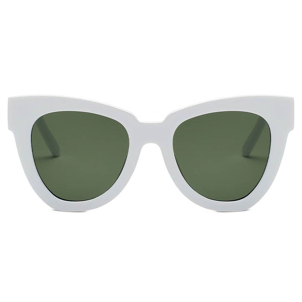 Escabana Round Cat Eye Sunglasses - White