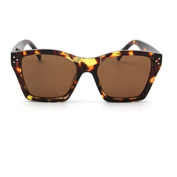 Demopolis Retro Cat Eye Sunglasses - Tortoise