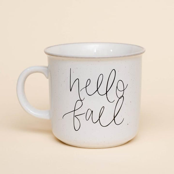 Hello Fall Rustic Campfire Coffee Mug