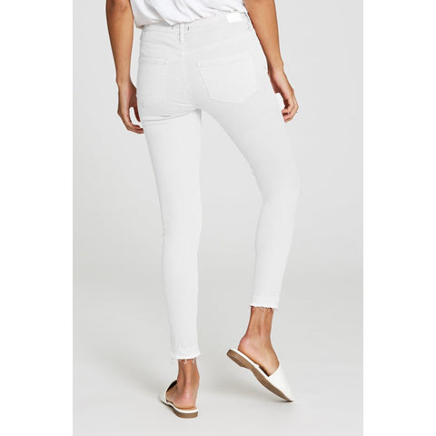 Gisele High Waisted Ankle Skinny - Optic White