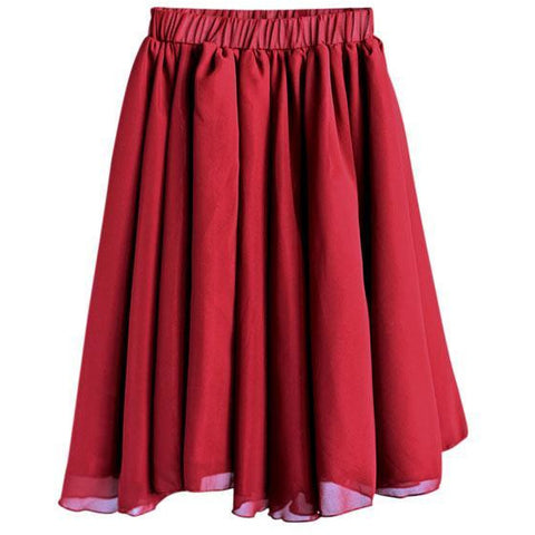 Aurora Maxi Skirt - Wine