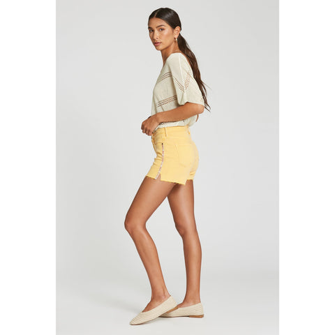 Gigi High Rise Short - Canary Yellow
